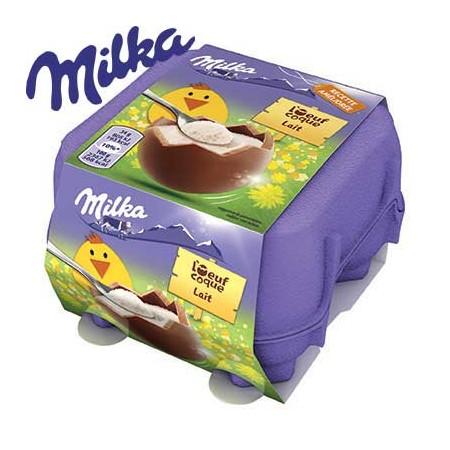 Oufs coque Milka chocolat lait