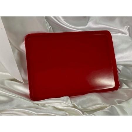 Plateau plat rouge