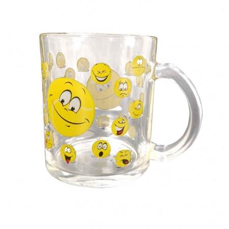 Mug verre décor Emoticône