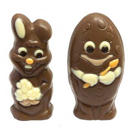 Duo Lapin + Œuf chocolat lait
