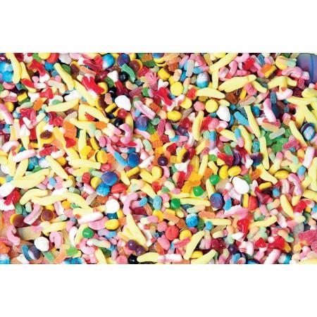 Méli mélo de bonbons gélifiés